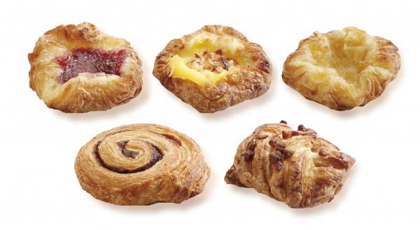 Surtido mini de pasteles elaborados al estilo danés. Harán las delicias de muchos.