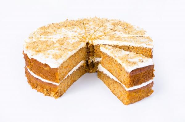 Tarta de Zanahoria y nueces con una delicada crema de queso